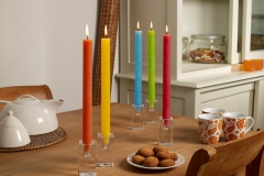 Rustic table candles summer